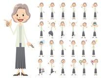 Θηλυκό σύνολο χαρακτήρα Διάφορος θέτει και συγκινήσεις Ελεύθερη απεικόνιση δικαιώματος