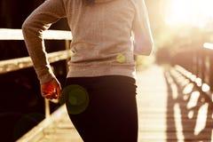 Θηλυκό τρέξιμο Jogger Στοκ Εικόνα