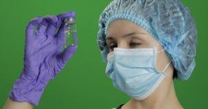 Θηλυκό φιαλλίδιο εκμετάλλευσης επιστημόνων διαθέσιμο, νέο φάρμακο που αναπτύσσεται, εμβολιασμός φιλμ μικρού μήκους