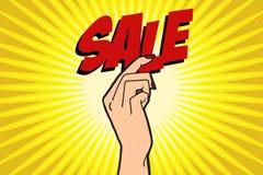 Θηλυκό χέρι πώλησης Στοκ Φωτογραφία