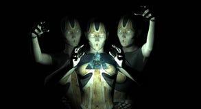 θηλυκό androids Στοκ Φωτογραφία