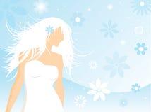 θηλυκό floral διανυσματική απεικόνιση