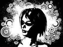 θηλυκό grunge Στοκ Εικόνες