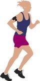 θηλυκό jogger Στοκ Φωτογραφία