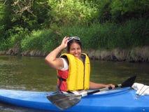 θηλυκό kayaker Στοκ φωτογραφίες με δικαίωμα ελεύθερης χρήσης