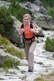 θηλυκό trekker Στοκ εικόνες με δικαίωμα ελεύθερης χρήσης