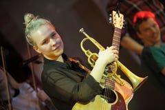 Θηλυκό trumpeter Στοκ εικόνα με δικαίωμα ελεύθερης χρήσης