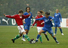 θηλυκό UEFA ποδοσφαίρου τη&sig Στοκ φωτογραφία με δικαίωμα ελεύθερης χρήσης
