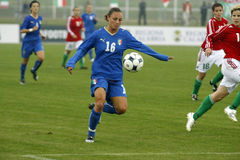 θηλυκό UEFA ποδοσφαίρου τη&sig Στοκ Εικόνες