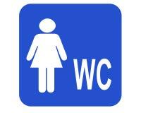 θηλυκό WC Στοκ εικόνες με δικαίωμα ελεύθερης χρήσης