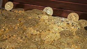 Θησαυρός νομισμάτων πειρατών τρισδιάστατος δώστε Στοκ φωτογραφία με δικαίωμα ελεύθερης χρήσης