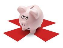 Θησαυρός τράπεζας Piggy Στοκ Εικόνες