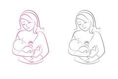 Θηλασμός μητέρων Στοκ εικόνα με δικαίωμα ελεύθερης χρήσης
