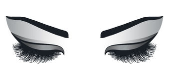 Θηλυκά μάτια με μακρύ Eyelashes διανυσματική απεικόνιση