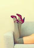 θηλυκά πόδια προκλητικά Στοκ Φωτογραφία