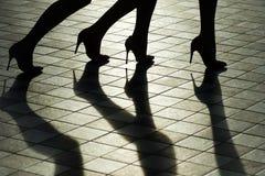 Θηλυκά πόδια στα μοντέρνα παπούτσια Στοκ εικόνες με δικαίωμα ελεύθερης χρήσης