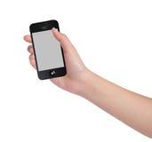 Θηλυκά χέρια που κρατούν ένα έξυπνο τηλέφωνο Στοκ Εικόνες