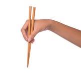 Θηλυκά χέρι και Chopstick ΙΙ Στοκ Εικόνα