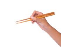 Θηλυκά χέρι και Chopstick Ι Στοκ Εικόνες