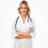 θηλυκή έκδοση γιατρών κινούμενων σχεδίων Στοκ Εικόνες