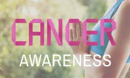 Θηλυκή έννοια ασθένειας ζητημάτων συνειδητοποίησης καρκίνου Στοκ Εικόνα