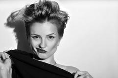 Θηλυκή ακριβής κινηματογράφηση σε πρώτο πλάνο πορτρέτου Στοκ εικόνα με δικαίωμα ελεύθερης χρήσης