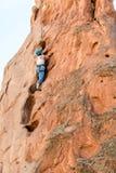 Θηλυκή γυναίκα ορειβατών βουνών Στοκ Φωτογραφία