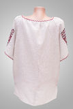 Θηλυκή εθνική λαογραφία πουκάμισων, ένα λαϊκό κοστούμι Ουκρανία, στο γκριζόλευκο υπόβαθρο Στοκ Φωτογραφία