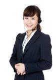 Θηλυκή εξυπηρέτηση πελατών της Ασίας Στοκ Εικόνες