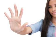 Επίτευξη χεριών ή σχετικά με Στοκ Φωτογραφία