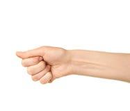 Θηλυκή καυκάσια χειρονομία χεριών που απομονώνεται Στοκ Φωτογραφία