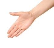 Θηλυκή καυκάσια χειρονομία χεριών που απομονώνεται Στοκ φωτογραφία με δικαίωμα ελεύθερης χρήσης