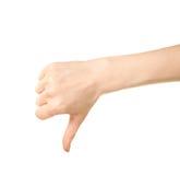 Θηλυκή καυκάσια χειρονομία χεριών που απομονώνεται Στοκ εικόνες με δικαίωμα ελεύθερης χρήσης