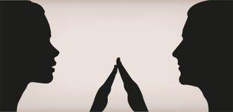 Θηλυκή κοριτσιών γυναικών γυναικείων ανδρών αρσενική αγάπης αφή αφής ζευγών τρυφερή Στοκ Εικόνες