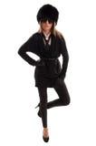 Θηλυκή πρότυπη στάση σε ένα πόδι Στοκ φωτογραφία με δικαίωμα ελεύθερης χρήσης