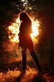 Θηλυκή σκιαγραφία Στοκ Εικόνες