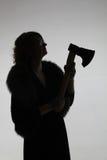 Θηλυκή σκιαγραφία Στοκ Φωτογραφίες