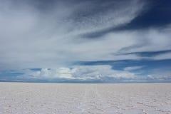 θηλυκή τοποθέτηση στρώματος λιμνών της Βολιβίας de distance 01 06 2000 απομονωμένη από πέρα από salar το αλμυρό λεπτό ύδωρ περπατ στοκ εικόνες με δικαίωμα ελεύθερης χρήσης