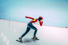 Θηλυκοί σκέιτερ ταχύτητας Στοκ Εικόνα