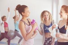 Θηλυκοί φιλαράκοι γυμναστικής στοκ φωτογραφίες
