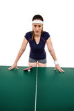 0 θηλυκός αθλητής που κλίνει στο σκληρό πίνακα Στοκ εικόνες με δικαίωμα ελεύθερης χρήσης