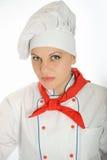 Θηλυκός αρχιμάγειρας Στοκ εικόνες με δικαίωμα ελεύθερης χρήσης