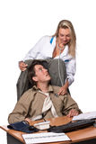 Θηλυκός γιατρός και καταθλιπτικός επιχειρηματίας Στοκ φωτογραφία με δικαίωμα ελεύθερης χρήσης