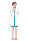 Θηλυκός γιατρός με τα διπλωμένα χέρια Στοκ Εικόνες