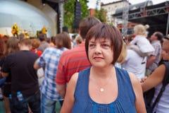 Θηλυκός επισκέπτης της συναυλίας Στοκ Φωτογραφία