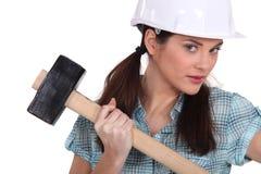 Θηλυκός εργάτης οικοδομών Στοκ εικόνα με δικαίωμα ελεύθερης χρήσης