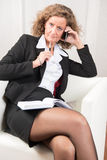 Θηλυκός διευθυντής στο τηλέφωνο Στοκ φωτογραφίες με δικαίωμα ελεύθερης χρήσης