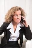 Θηλυκός διευθυντής στο τηλέφωνο Στοκ Φωτογραφία