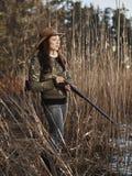 Θηλυκός κυνηγός παπιών Στοκ φωτογραφίες με δικαίωμα ελεύθερης χρήσης