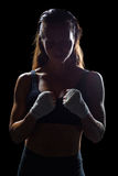 Θηλυκός μαχητής με τον επίδεσμο Στοκ Εικόνες